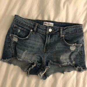 Zara Faded Jean Shorts